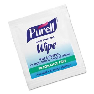 Purell Individually Wrapped Hand Sanitizer Wipes, 1000 Wipes (GOJ 9022-10)