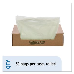 32 Gallon Compostable Green Compost Bags, 33x48, 0.85mil, 50 Bags (STOE3348E85)