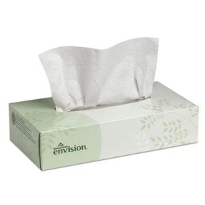 Envision 2-Ply Facial Tissues, White, 30 Flat Boxes (GPC47410)