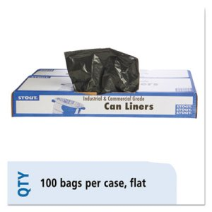 60 Gallon Brown Garbage Bags, 38x60, 1.5mil, 100 Bags (STOT3860B15)