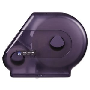 San Jamar Super Jumbo Roll Toilet Paper Dispenser with Stub Roll (SAN R6500TBK)