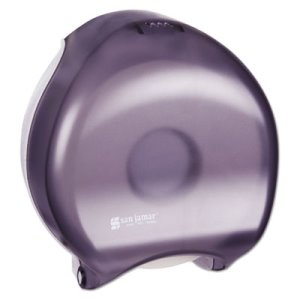 San Jamar Single Jumbo Toilet Tissue Dispenser, Trans Black (SJMR2000TBK)