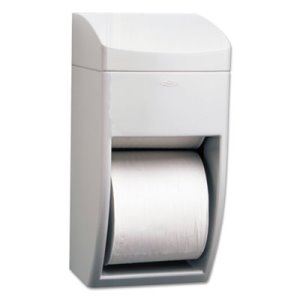 Bobrick Matrix Series Dual Roll Toilet Paper Dispenser, Gray (BOB 5288)