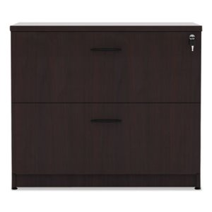 Alera Valencia Series Two-Drawer Lateral File, 34w x 22 3/4d x 29 1/2h, Mahogany (ALEVA513622MY)
