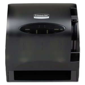 Lev-R-Matic Hard Roll Towel Dispenser, Smoke, 1 Each (KCC09765)