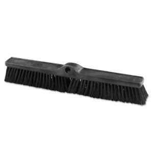 "Rubbermaid 1861212 Heavy Duty Black Push Broom, 24"" x 3"", 12/Crtn (RCP1861212CT)"