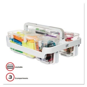 Deflecto Caddy Organizer, 10 1/2 x 14, White, 1 Each (DEF29003)
