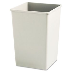 Rubbermaid Untouchable 35 Gallon Square Trash Can, Beige (RCP395800BG)
