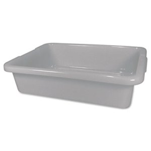 Rubbermaid Bus/Utility Pan, 20 x 15 x 5, Gray, 1 Each (RCP3349GRA)