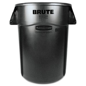 Rubbermaid 264360 Brute 44 Gallon Vented Trash Can, Black (RCP 2643-60 BLA)