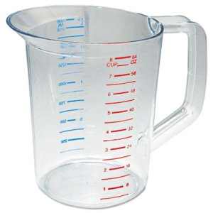 Rubbermaid Bouncer 2 Quart Measuring Cup, Clear (RCP 3217 CLE)