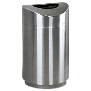 Rubbermaid R2030 Eclipse Open Top 30 Gallon Waste Can, Steel (RCPR2030SSPL)