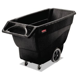 Rubbermaid 3/4 Cubic Yard Structural Foam Tilt Truck, Black (RCP 1011 BLA)