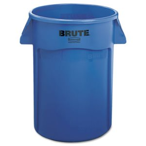 Rubbermaid 264360 Brute 44 Gallon Vented Trash Can, Blue (RCP264360BE)
