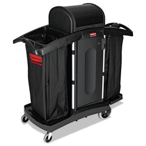 Rubbermaid 9T78 High Security Compact Housekeeping Cart, Black (RCP9T78)