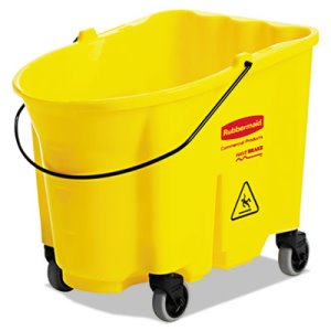 Rubbermaid 757088 WaveBrake 35-qt. Mop Bucket, Yellow (RCP757088YEL)