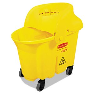 Rubbermaid 759088 WaveBrake Institutional Mop Bucket/Strainer (RCP759088YEL)