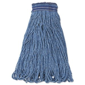 Rubbermaid Universal Headband Mop Heads, 24-oz, Blue, 12 Mops (RCPE238)