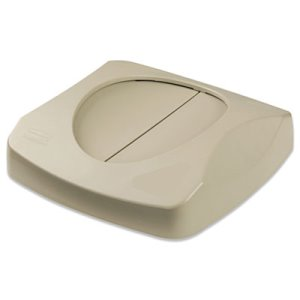 Rubbermaid 2689-88 Untouchable Trash Can Swing Lid, Beige (RCP 2689-88 BEI)