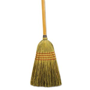 Boardwalk Mixed Fiber Maid Broom, Wood Handle, 12 Brooms (BWK920YCT)