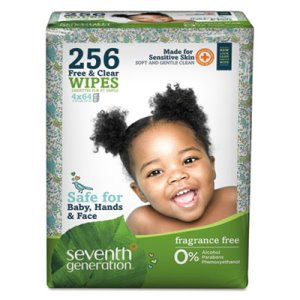 Seventh Generation Free & Clear Baby Wipes Refill, 256 Wipes (SEV34219)