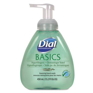 Dial Basics Foaming Lotion Soap with Aloe, 4 Table Top Pump Bottles (DIA 98609)