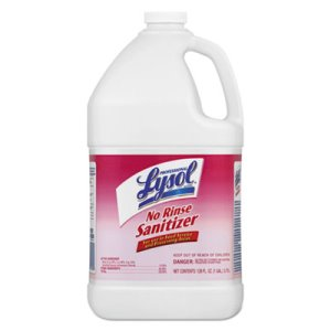 Professional Lysol No Rinse Sanitizer, 4 Gallons (REC 74389)