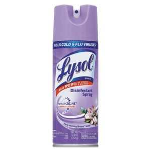 Lysol III Disinfectant Spray, Early Morning Breeze Scent, 12 Cans (REC 80833)
