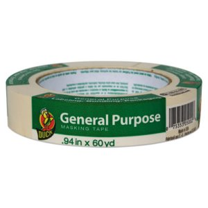 "Duck General Purpose Masking Tape, 0.94"" x 60 yds, Beige, 36/Pack (DUC284367)"