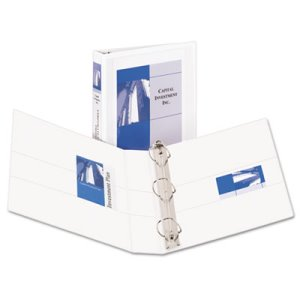 "Avery Durable Ring View Binders, 1-1/2"" Capacity, White (AVE09401)"