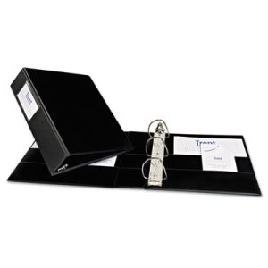 Avery Durable Slant Ring Reference 2' Binder With Label Holder, Black (AVE08502)