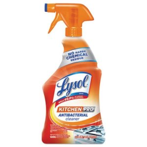 Lysol Brand Kitchen Pro Antibacterial Cleaner, Citrus Scent, 22 oz Spray Bottle, 9/CT (RAC79556)