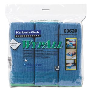 Wypall Microfiber Cloths with Microban, Blue, 6 Cloths (KCC83620)
