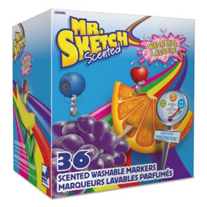 Mr. Sketch Scented Washable Markers - Classroom Pack, 36 Markers (SAN2003992)