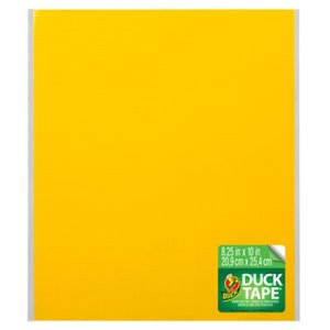 Duck Tape Sheets, Yellow, 6/Pack (DUC282714)