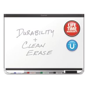 Quartet Prestige 2 DuraMax Porcelain Magnetic Whiteboard, 96 x 48, Graphite Color Frame (QRTP558GP2)
