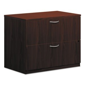 Basyx BL Laminate Two-Drawer Lateral File, 35-3/4w x 22d x 29h, Mahogany (BSXBL2171NN)