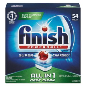 Finish Powerball Dishwasher Tabs, Fresh Scent, 4 Boxes (RAC81158)