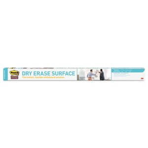 Post-it Dry Erase Film with Adhesive Backing, 72 x 48, White (MMMDEF6X4)