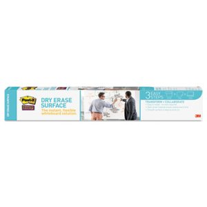 Post-it Dry Erase Film with Adhesive Backing, 36 x 24, White (MMMDEF3X2)