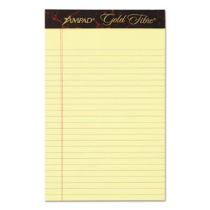 Ampad Writing Pads,  5 x 8, Jr. Legal Rule, 50-Sheet Pads, 12 Pads (TOP20004)