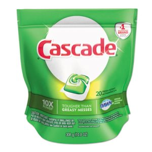 Cascade ActionPacs Dishwasher Detergent, Fresh Scent, 20 Pacs (PGC97716)