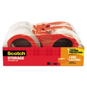 "Scotch Moving & Storage Tape, 3"" Core, Clear, 4 Rolls (MMM3650S4RD)"