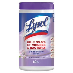 Lysol Disinfecting Wipes, Early Morning Breeze, 80 Wipes (RAC89347)