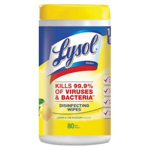Lysol Disinfecting Wipes, Lemon & Lime Blossom, 80 Wipes (RAC77182EA)