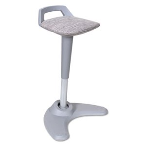 Alera Sit to Stand Perch Stool, Gray with Silver Base (ALEAE36PSGR)