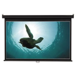 Quartet Wide Format Wall Mount Projection Screen, 65 x 116, White (QRT85573)