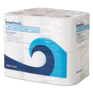 Boardwalk Standard 2-Ply Toilet Paper, 96 Rolls/CT (BWK6143CT)