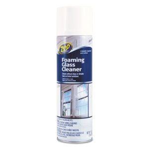 Zep Foaming Glass Cleaner, 19 oz Aerosol Can, Pleasant Scent (ZPE1046502)