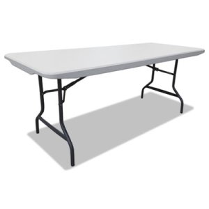 "Alera Resin Rectangular Folding Table, 72"" x 30"", Platinum (ALE65600)"